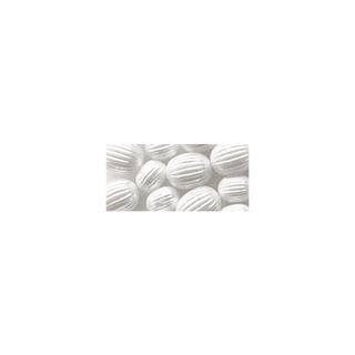 Perle a rainures, 8 mm ø blanc