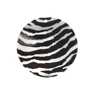 Element bijou nacre Rondelle 30 mm peint main Zebre, piece nacre
