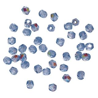 Perle facettee en verre, 3 mm ø irisee amethyste