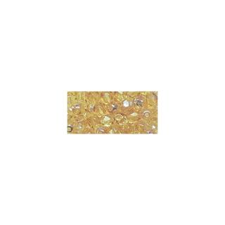 Perles transparentes en verre depolis 6 mm ø Irisees topaze