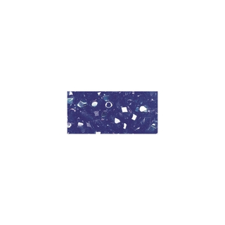 Perles transparentes en verre depolis 6 mm ø Irisees saphir