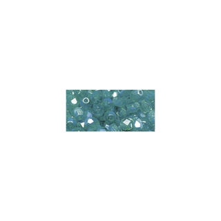 Perles transparentes en verre depolis 6 mm ø Irisees emeraude