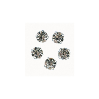 Pierres strass 10 mm, rondes cristal