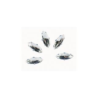 Pierres strass, 12x4 mm, ovales cristal