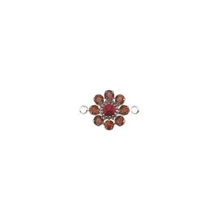 Swarovski accessoires bijoux Fleur, 2 oeuillets, 15 mm orange sanguine