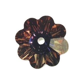 Swarovski Fleur cristal 10 mm 1 trou rubis