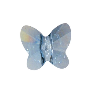 Swarovski Perle cristal Papillon 8 mm aigue-marine