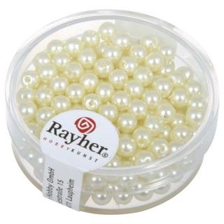 Perles de cire, 4 mm ø creme