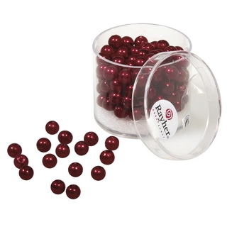 Perles de cire, 6 mm ø rouge