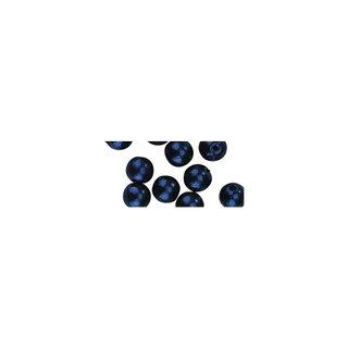 Perles en cire, 6mm ø bleu fonce,