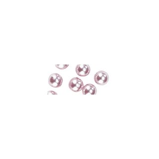 Perles en cire, 6mm ø rose,