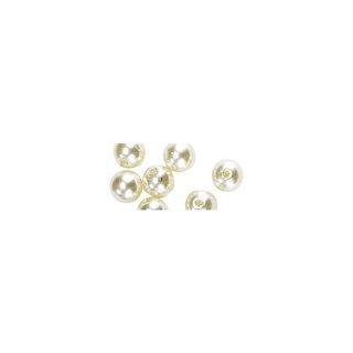 Perles en cire, 6mm ø creme,