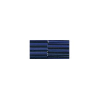 Chevilles en verre, 20 mm avec garniture argent bleu fonce