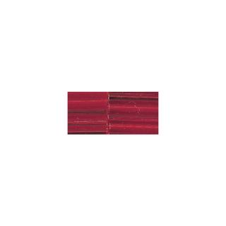 Chevilles en verre, 20 mm avec garniture argent rouge