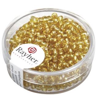 Rocailles,2,6 mm ø,av,garniture d'argent or