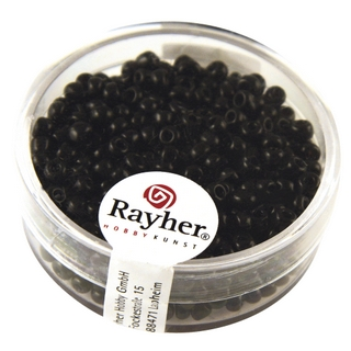 Rocailles, 2,6 mm ø, opaques noir