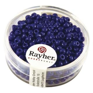 Rocailles, 2,6 mm ø, opaques bleu fonce