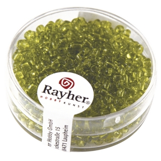 Rocailles, 2,6 mm ø, transparentes vert clair