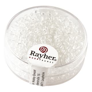 Rocailles, 2,6 mm ø, transparentes cristal