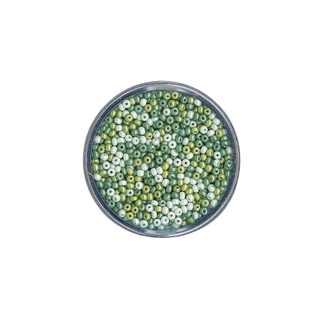 Rocailles, nacrees, 2,6 mm ø Teintes vertes