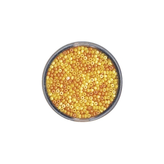 Rocailles, nacrees, 2,6 mm ø Teintes jaunes