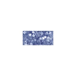 Chevilles en verre, transparent, 2x2 mm bleu moyen