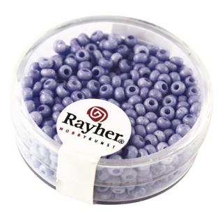 Rocailles, porcelaines, 2,6 mm ø bleu moyen