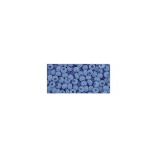 Rocailles, 2,6 mm ø, albâtres bleu clair