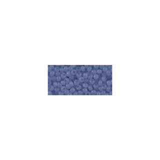 Rocailles, 2,6 mm ø, albâtres bleu moyen