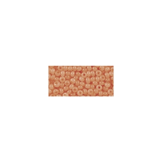 Rocailles, 2,6 mm ø, albâtres orange