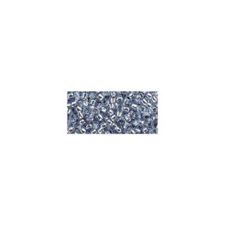 Rocailles, avec garniture d'argent, 2,6 mm ø bleu clair