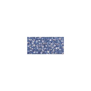 Rocailles, avec garniture d'argent, 2,6 mm ø bleu moyen