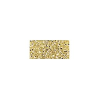 Rocailles, avec garniture d'argent, 2,6 mm ø jaune