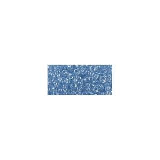 Rocailles, transparentes, 2,6 mm ø bleu clair