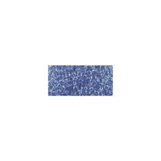Rocailles, transparentes, 2,6 mm ø bleu moyen