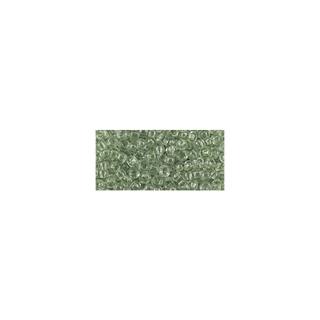 Rocailles, transparentes, 2,6 mm ø vert antique