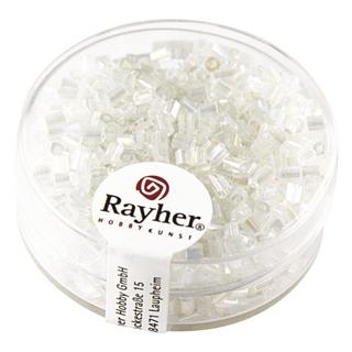 Chevilles en verre av,garniture d'argent 2x2 mm cristal