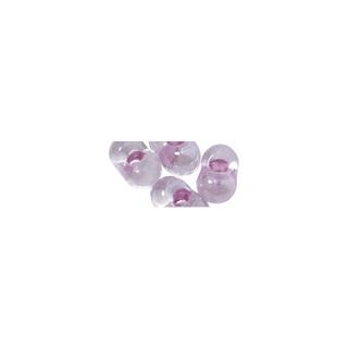 Rocailles papillon, 2x4 mm lilas