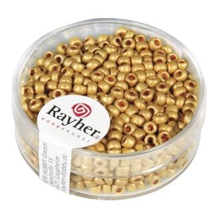 Metallic-rocailles, depolies 2,6 mm ø jaune d`or