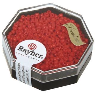 Premium-rocailles, 2,2 mm ø opaque rouge feu, boîte 8 g