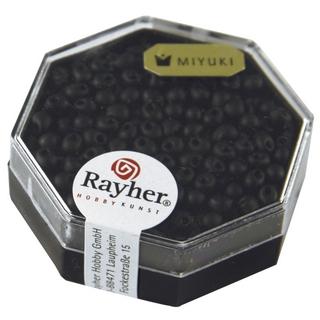 Miyuki-Perle-Drop, opaque, givree ø 3,4 mm noir