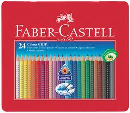 FABER-CASTELL crayons de couleur COLOUR GRIP 2001, étui en bte.