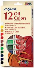 KREUL Peinture à l'huile el Greco, 12 ml, set de 12 set