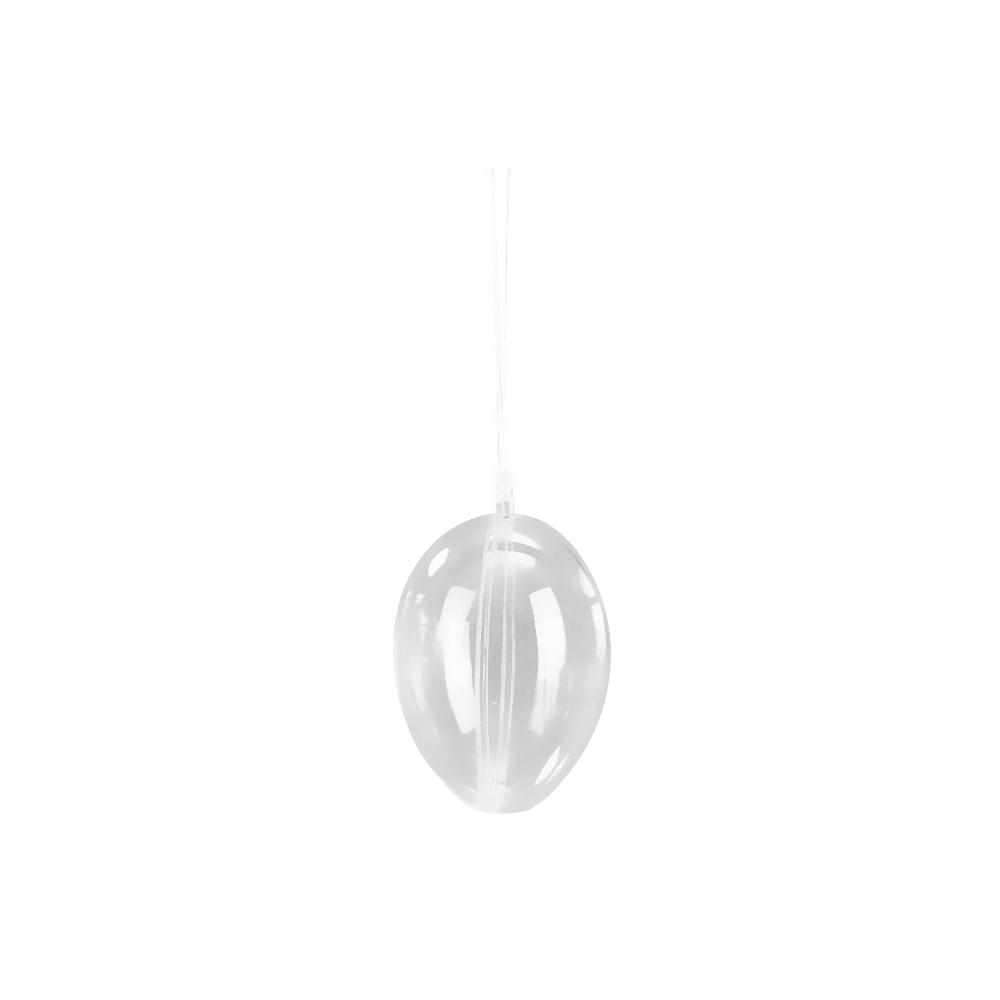 Oeuf en plastique 2 parties, 10 cm